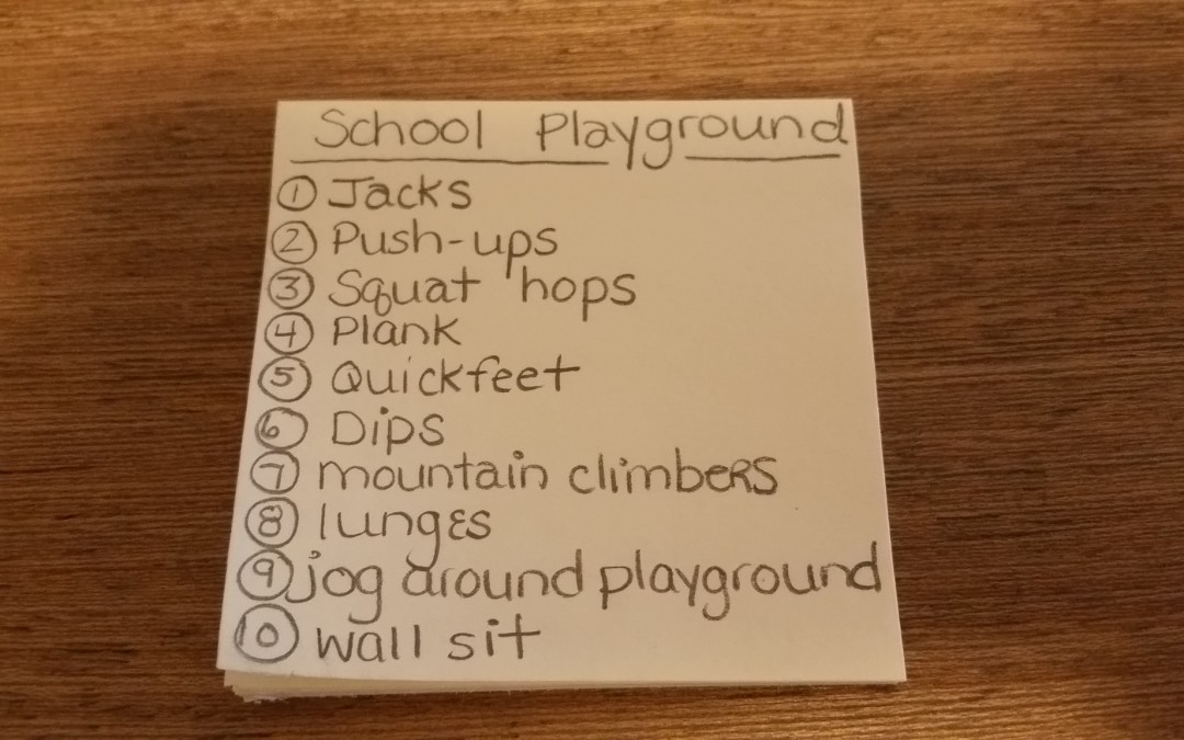 School Playground Workout!