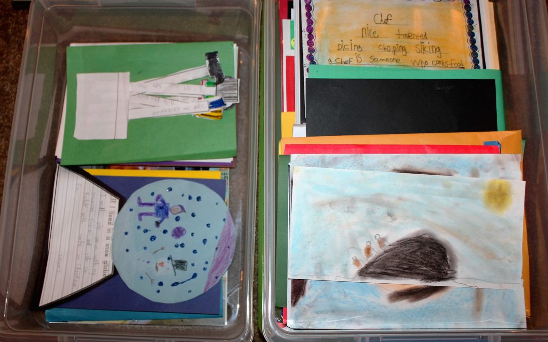 HOW TO ORGANIZE YOUR CHILDRENS' ART AND SCHOOL WORK